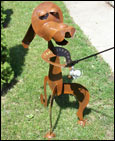 Fishing Dog Statue
