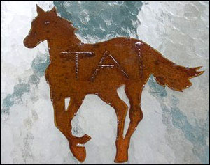 Horse Wall Art Door/Stall Name Plate