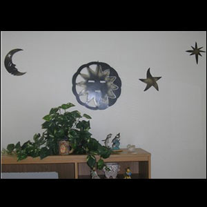 Metal Moon and Star Wall Art
