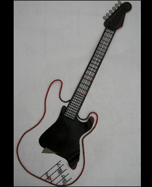 Red & Black Steel Guitar